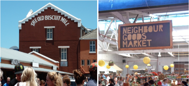 A great way to spend a Saturday morning is at the bustling Neighbourgoods Market at The Old Biscuit Mill 375 Albert Road, Woodstock