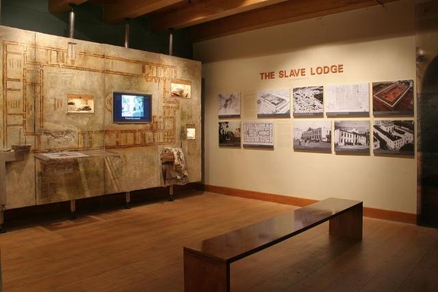 An exhibit inside the Slave Lodge