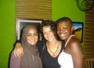 Some of her closest friendships she made on her study abroad. Her sisters, Tasneem from California and Nokulinda from KZN.