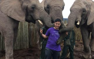 Joseph A. on internship in South AFrica