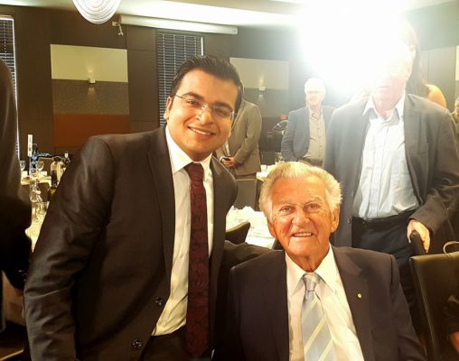 Abdullah with Prime Minister of Australia, Bob Hawke