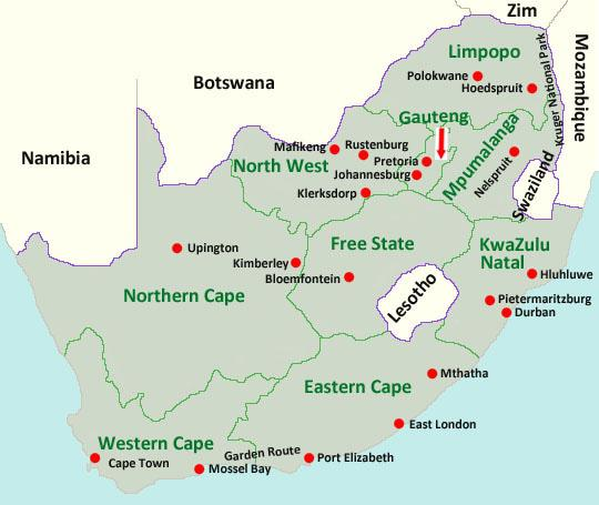 Map Of South Africa And Lesotho.South Africa A Brief Introduction Vacorps